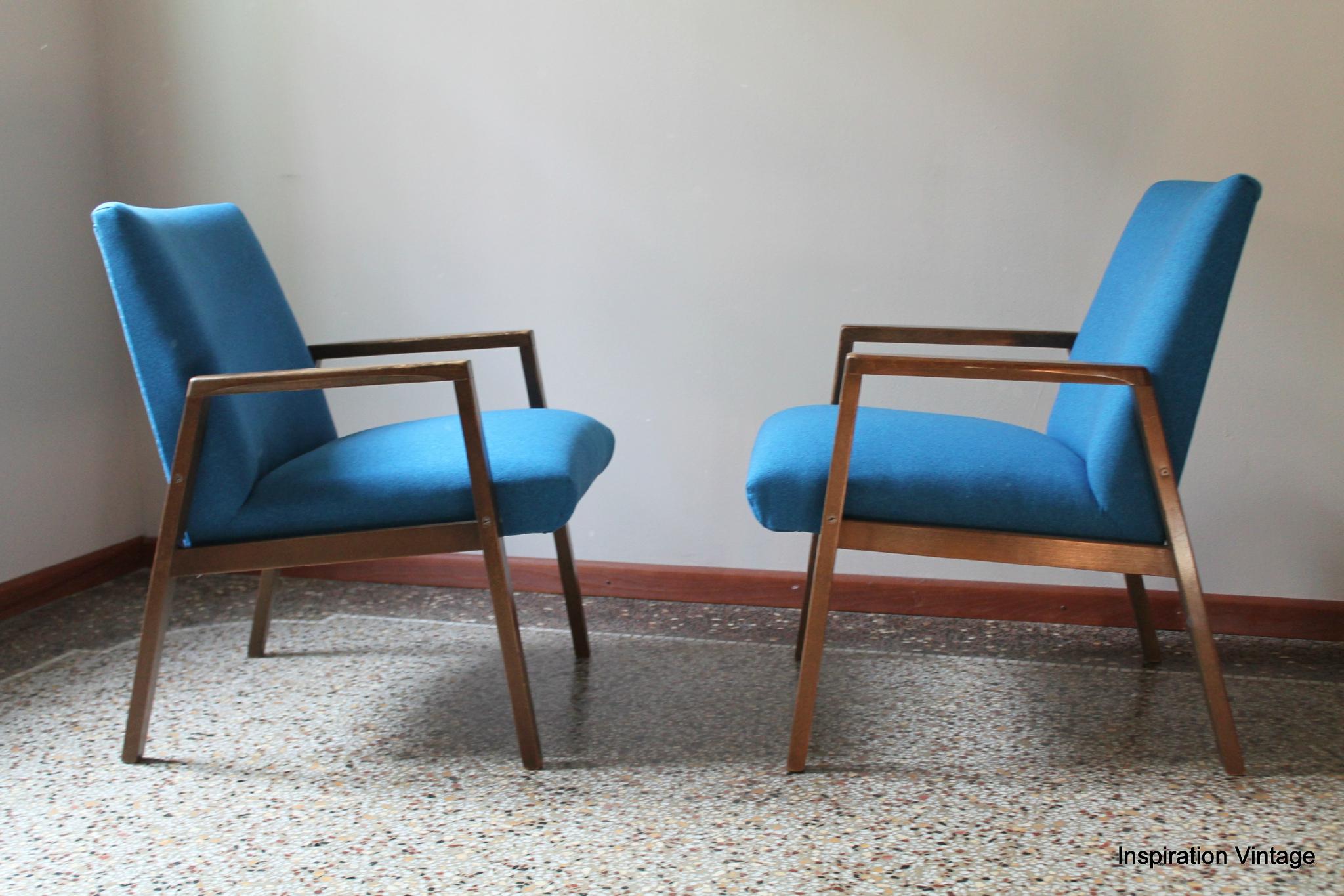 Fauteuils design Scandinave 70 S Bleu Inspiration Vintage