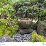 Fontaine Jardin Japonais Fontaine D Eau De Tsukubai Au Jardin Japonais Image Stock