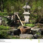 Fontaine Jardin Japonais Fontaine Dans Le Jardin Japonais Stock Image