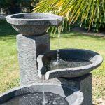 Fontaine Jardin Japonais Fontaine De Jardin à Débordement Bassin 3 Vasques Noire Grise