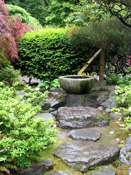 Fontaines de Jardin Japonais fontaines en pierre et bambou