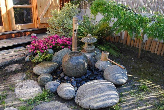 Jardin japonais petit espace aquarelle online