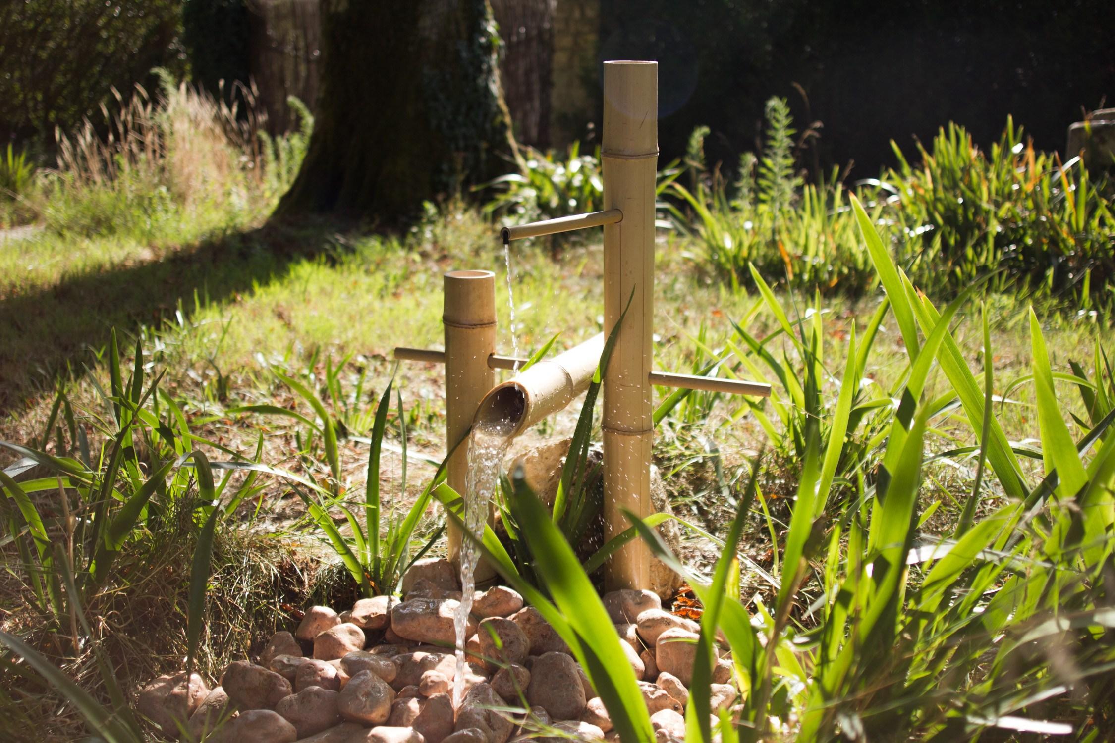 Jardin zen fabriquer une fontaine japonaise shishi