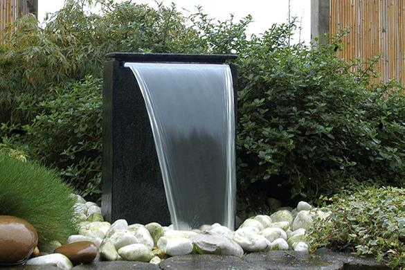 Fontaine de jardin Vicenza chute d eau Led