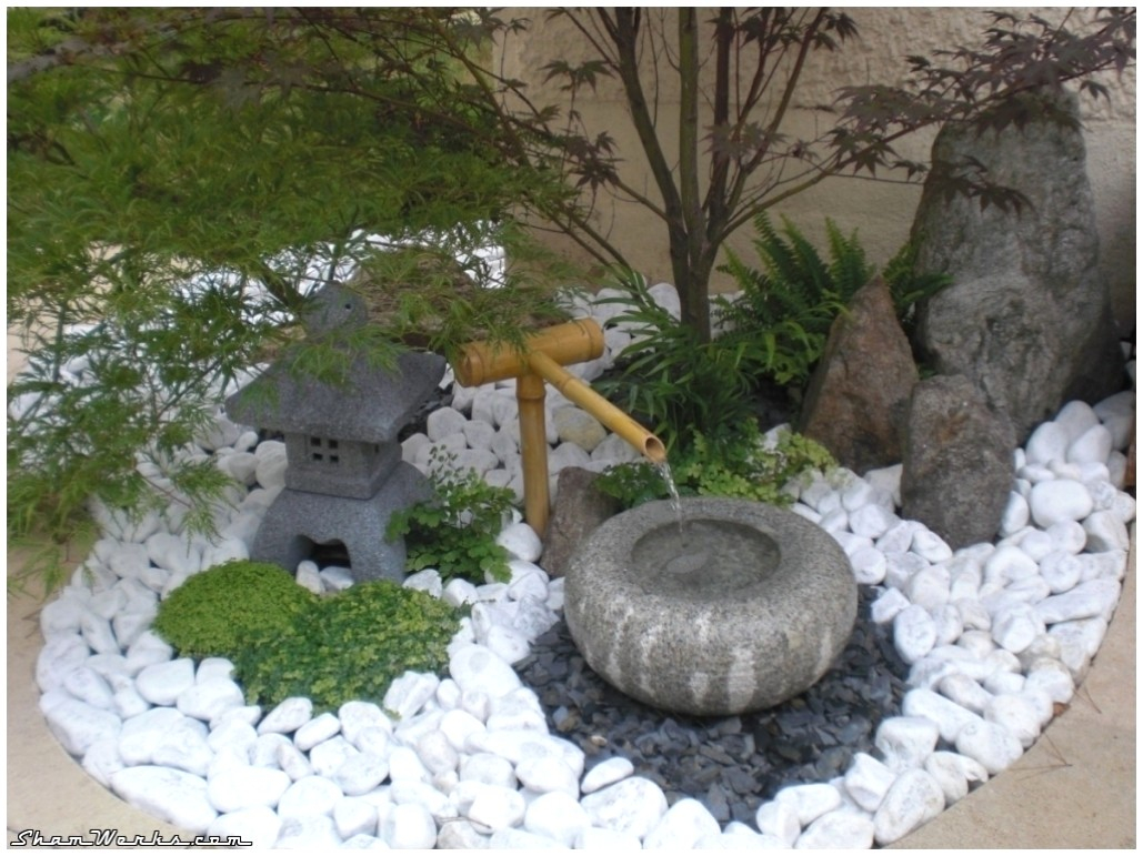 Jardin Zen Miniature Avec Fontaine Pour G Nial Construire