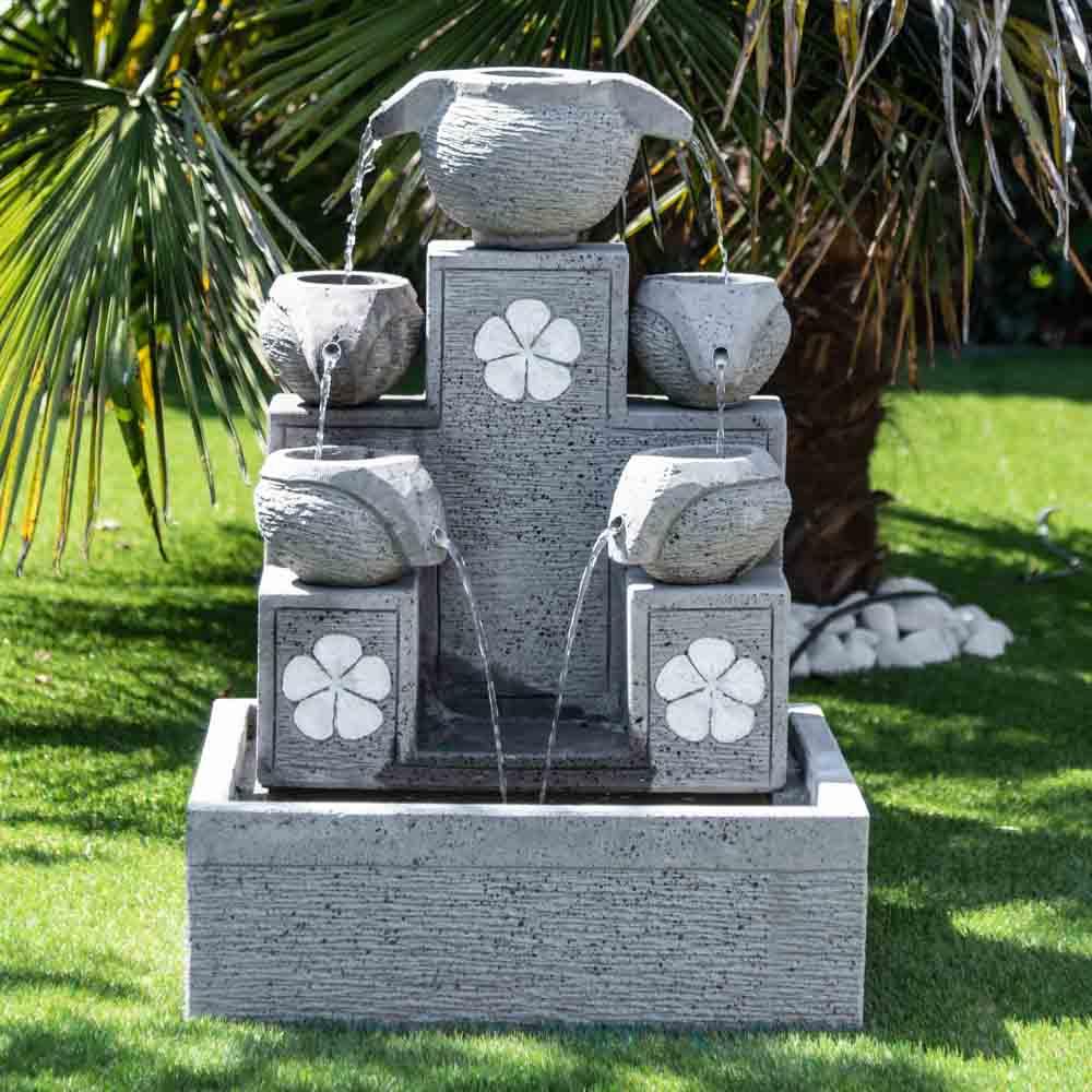 Photo Fontaine De Jardin fontaine zen jardin fontaine de jardin cascade 5 coupes 90cm