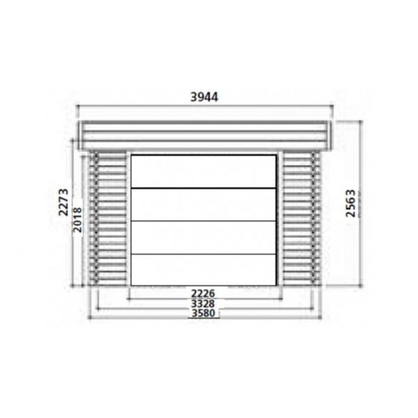 Garage bois MODERNE toit plat 17m² Solid achat vente