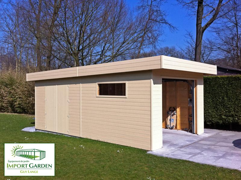 Garage bois Toit plat & design contemporain
