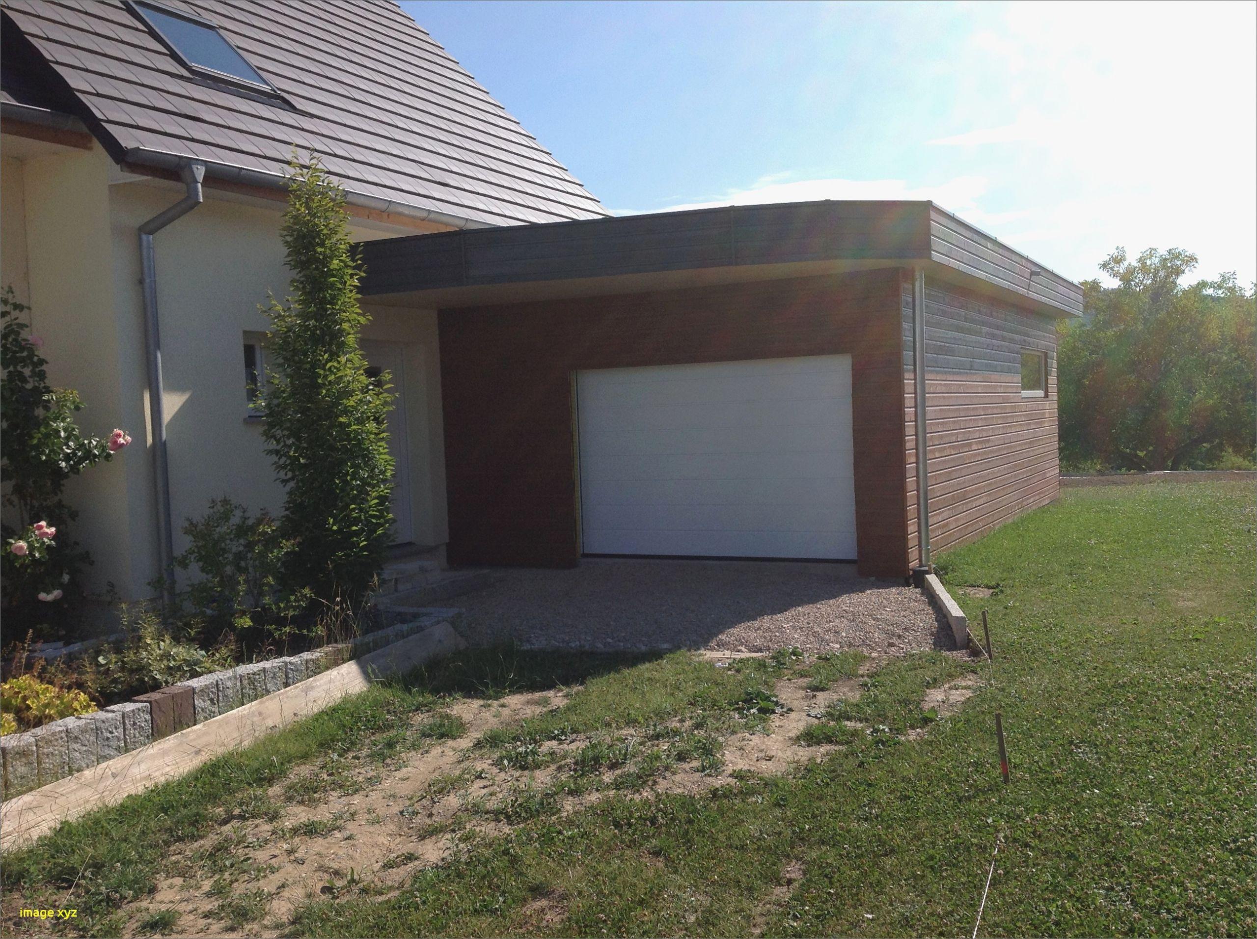 Garage Toit Plat Beton Kit Extension Bois Luxe Kit