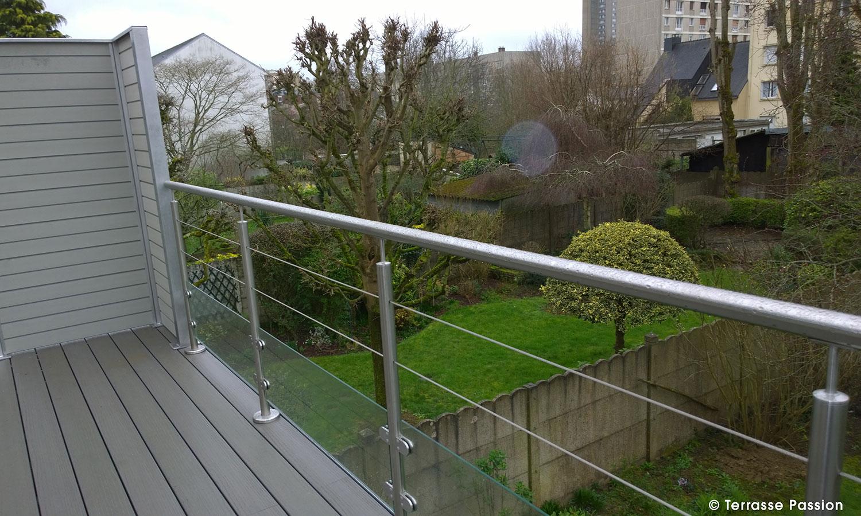 Garde corps et escaliers pour terrasses en bois Grad