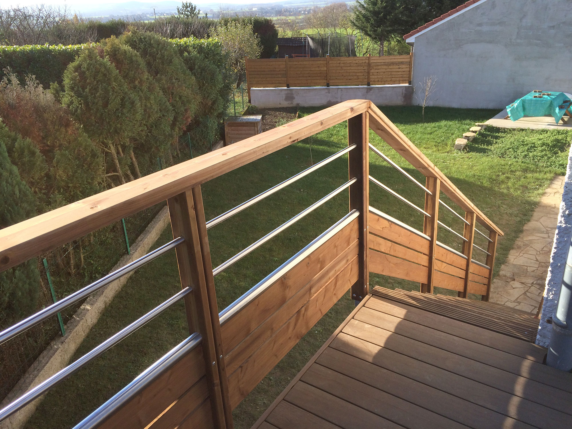 Terrasse bois sans vis en Moselle Meurthe et Moselle