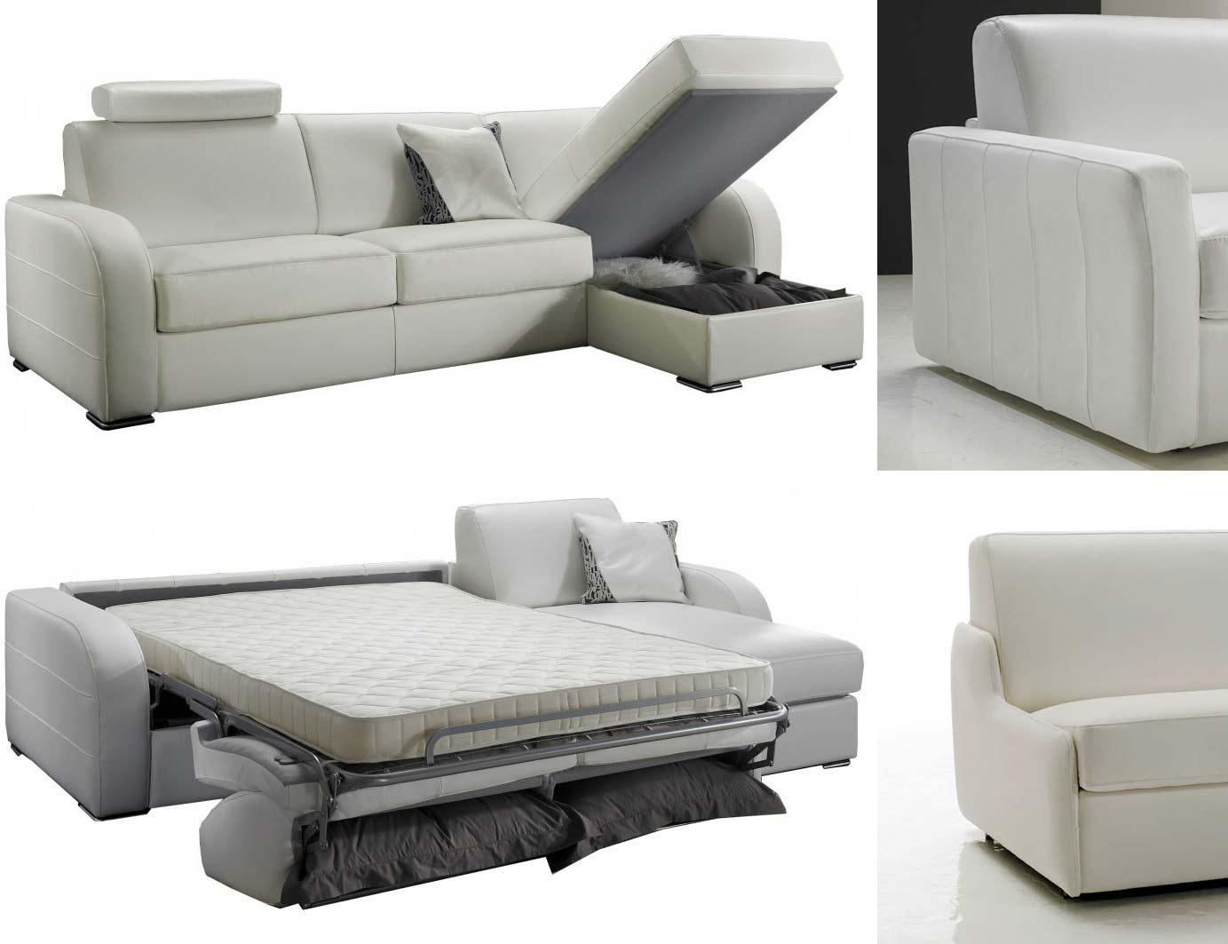 Canapé lit d angle réversible 5 places lit 140 cm