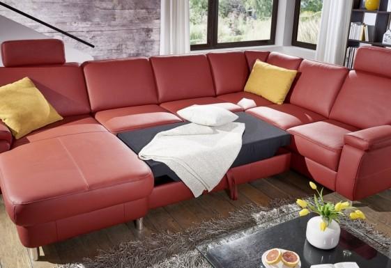 Grand canapé d'angle convertible 6 places en U MARWIN C