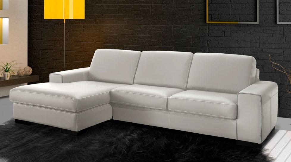 Canapé d angle en cuir pas cher Universdusalon