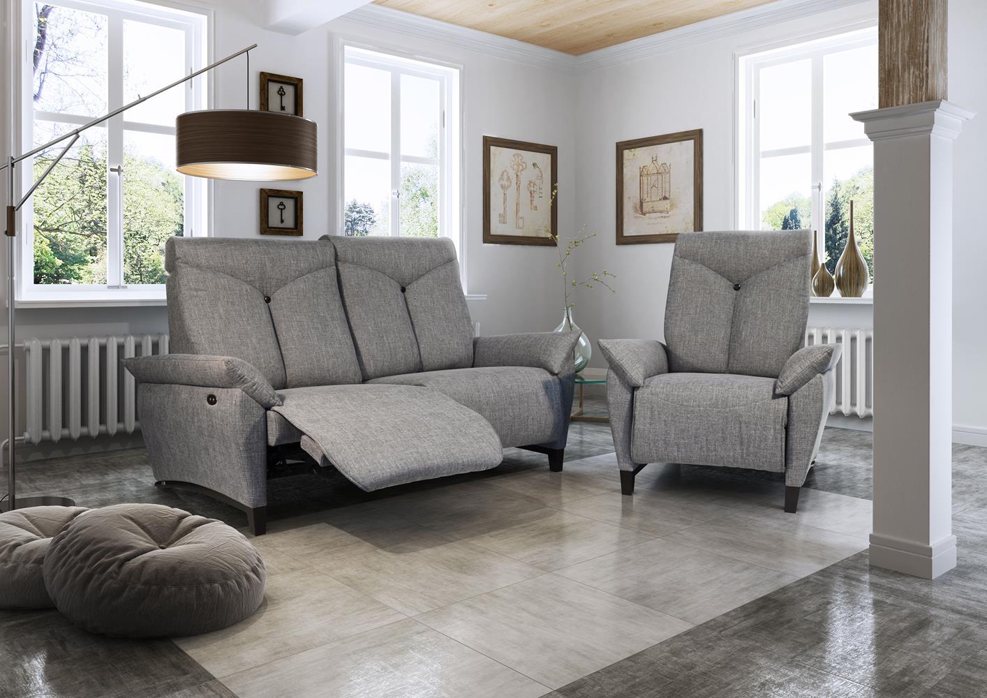 Acheter votre grand canapé droit à têtières réglables chez