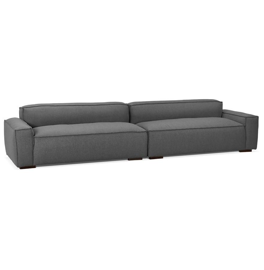 Grand canapé DODU XXL en tissu gris foncé canapé droit 5