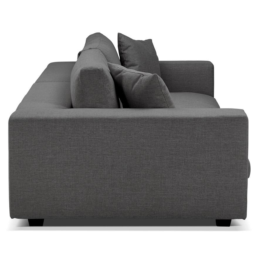 Grand canapé droit DALTON XXL en tissu gris foncé Canapé