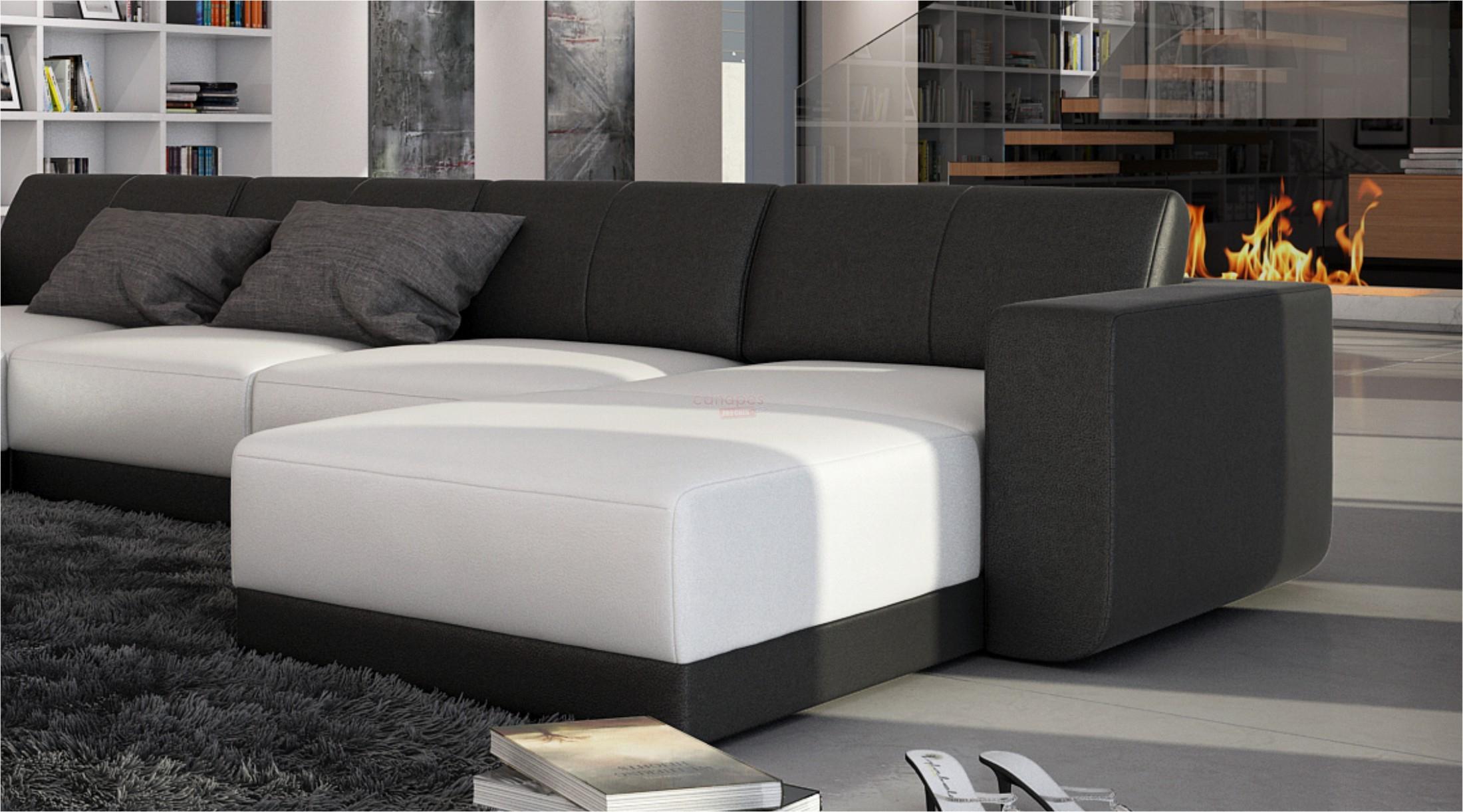 Grand canapé d angle cuir contemporain FERRAGAMO XL 1 549
