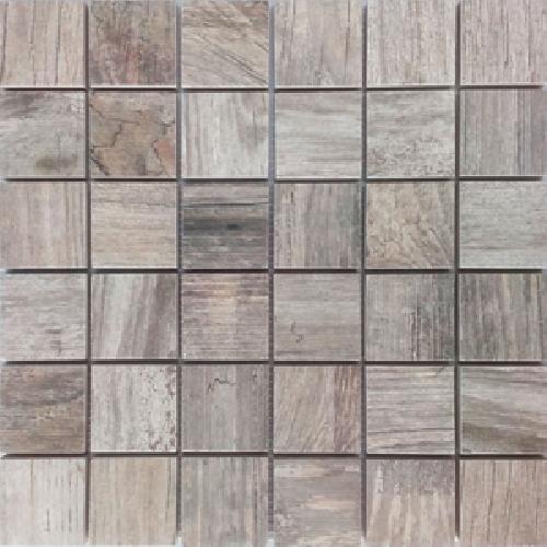 Malla Forest Gris Mosaique imitation bois grès cérame