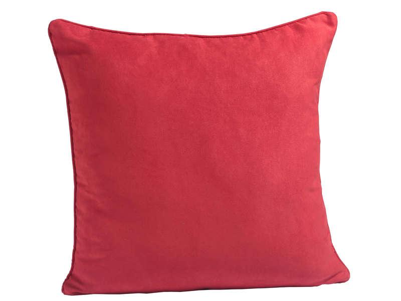 Coussin 60x60 cm SUEDE coloris rouge Vente de Coussin et