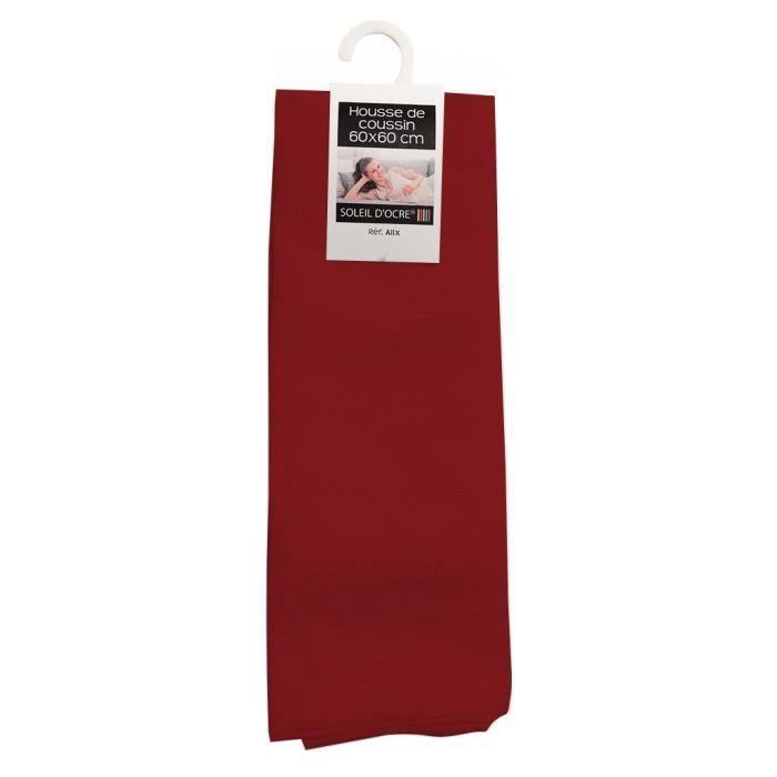 Housse de coussin 60x60 cm ALIX rouge Achat Vente