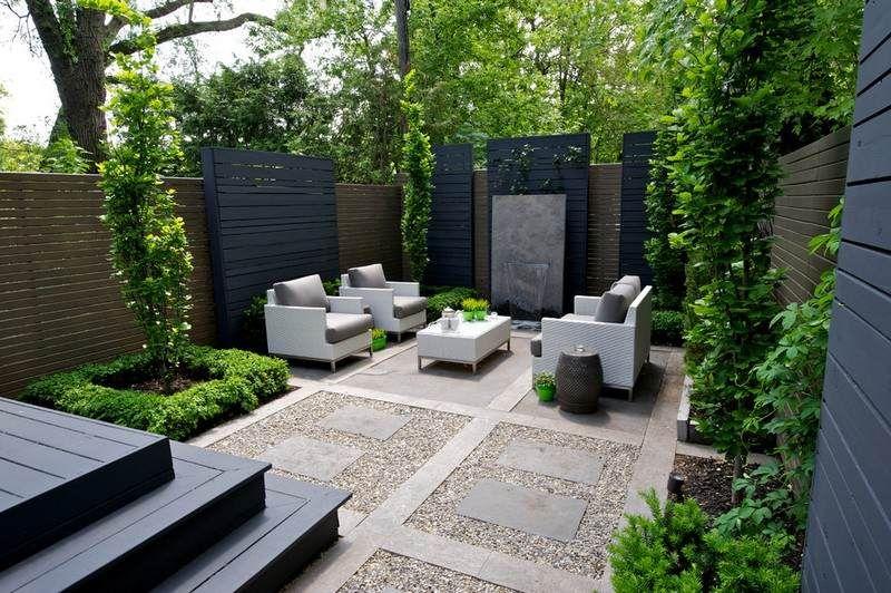 Aménagement petit jardin dans l'arrière cour–idées