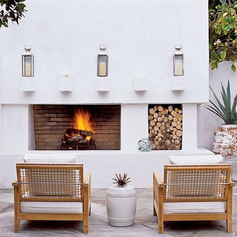 Idees Terrasses Exterieures Cheminées Extérieures Idées Pour Jardin Terrasse Et