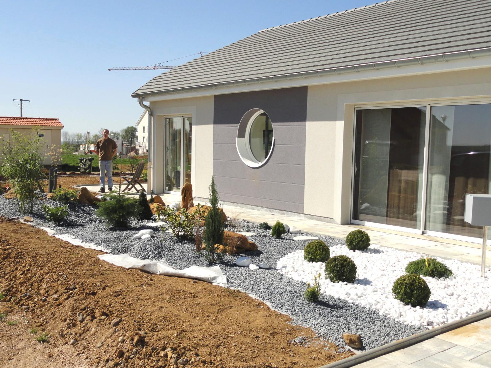 Belle Jardin Devant Maison Terrasse Amenagement Devant Maison QW-36