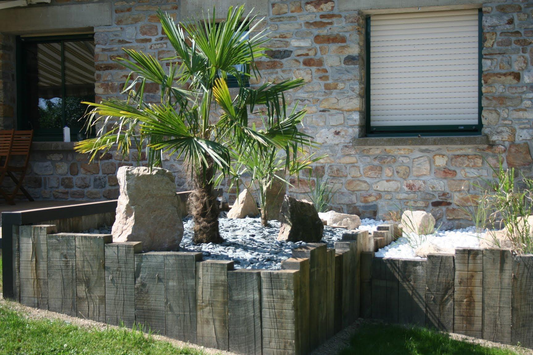Jardin Devant Maison Terrasse Amenagement Bordure De