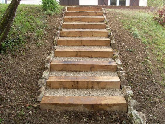 178 best Jardin pente escalier images on Pinterest