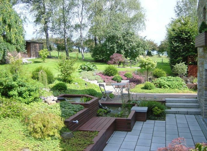 Aménagement jardin en pente idées pour vous faciliter la