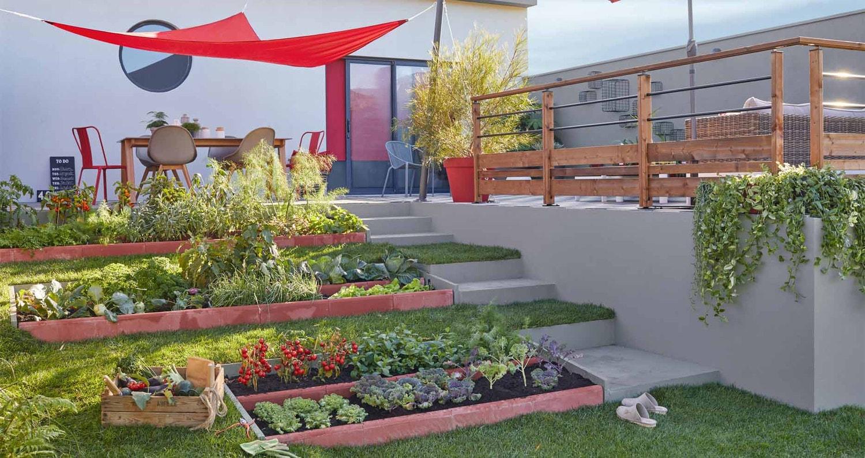 Allee De Jardin En Pente jardin en pente conception - idees conception jardin