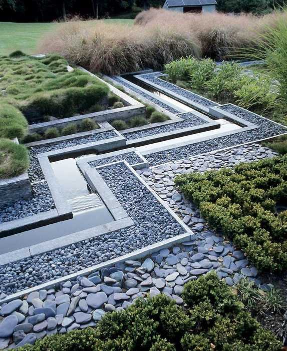 Jardin Paysager Moderne Conception
