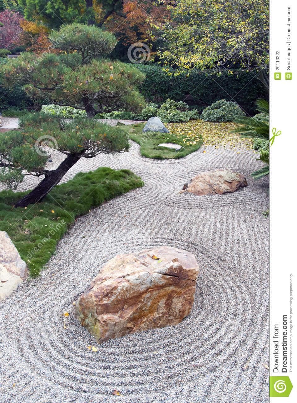 Jardin Sec Japonais D horizontal graphie stock