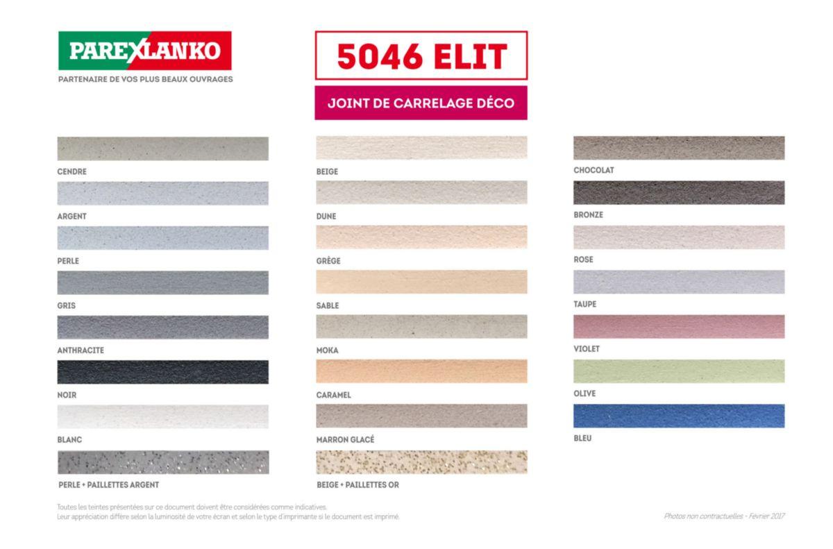 PAREXLANKO Joint de carrelage décoratif 5046 Elit gris