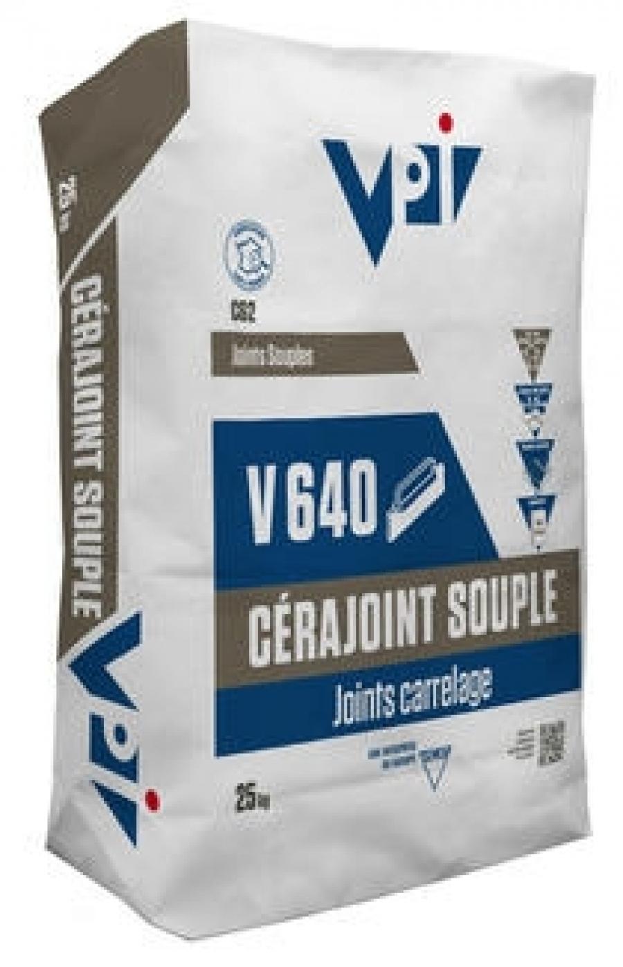 Mortier Joint Souple V640 Blanc 5kg VPI
