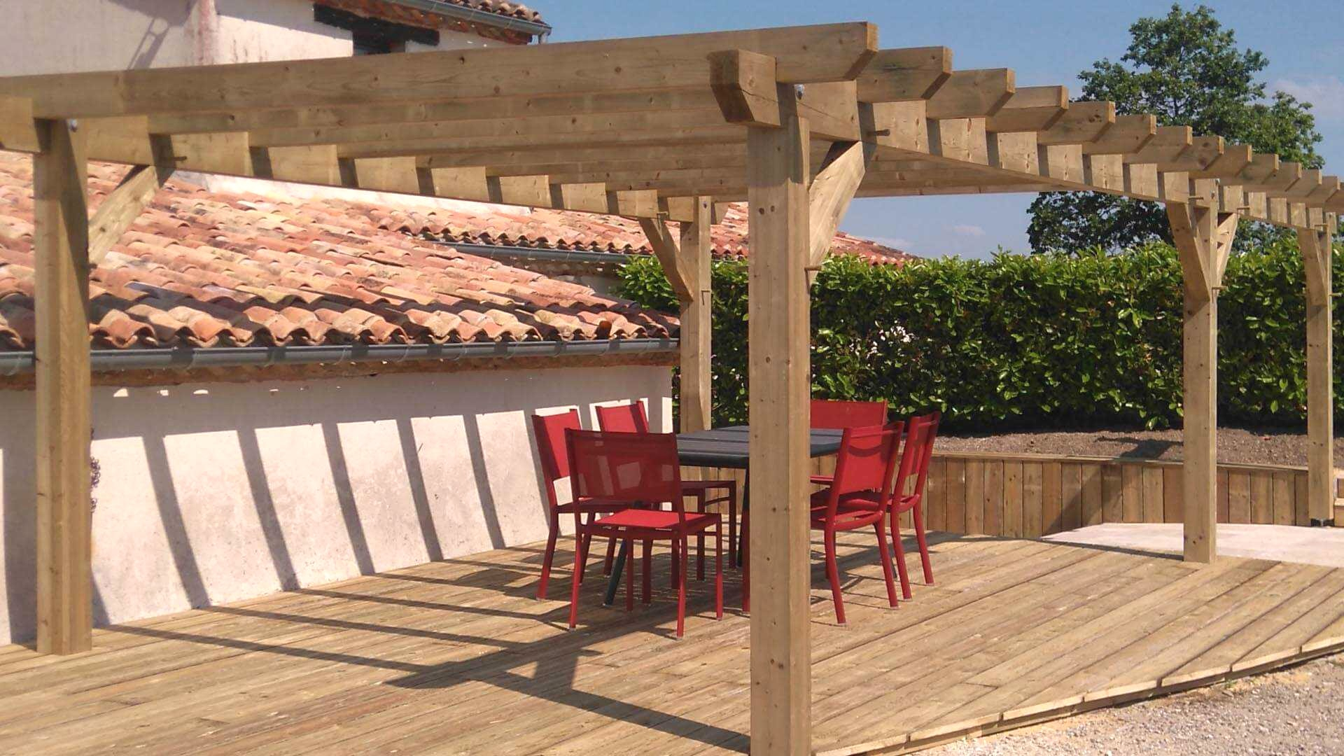 Kit Terrasse Bois Pergola Aluminio Leroy Merlin Trendy Perfect Tonnelle En Idees Conception Jardin Idees Conception Jardin