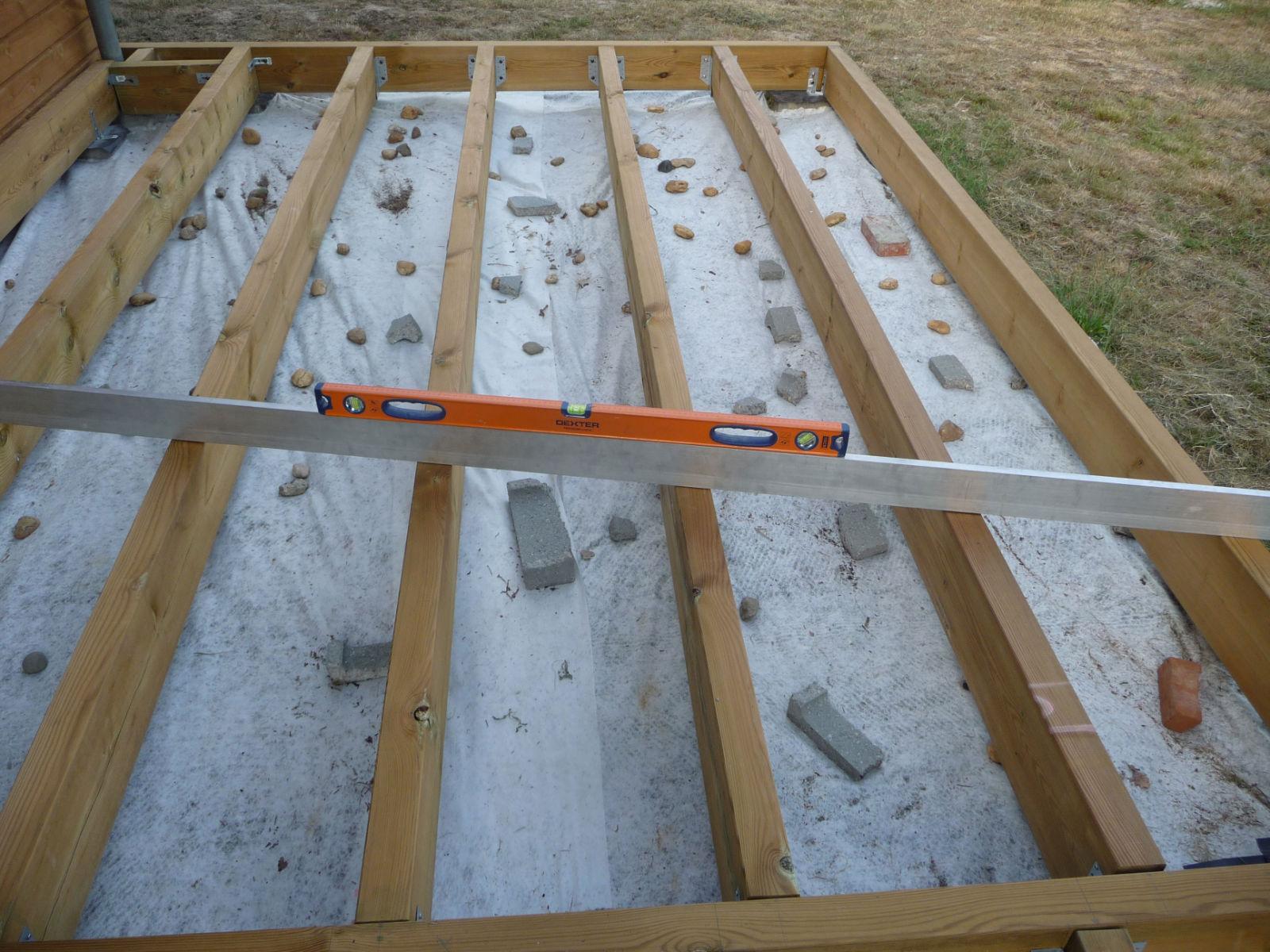 Construction d une terrasse en bois Mise à niveau de la