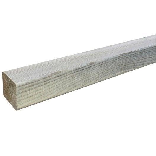 Lambourde pour terrasse bois résineux Kuhmo vert L 4 2 m