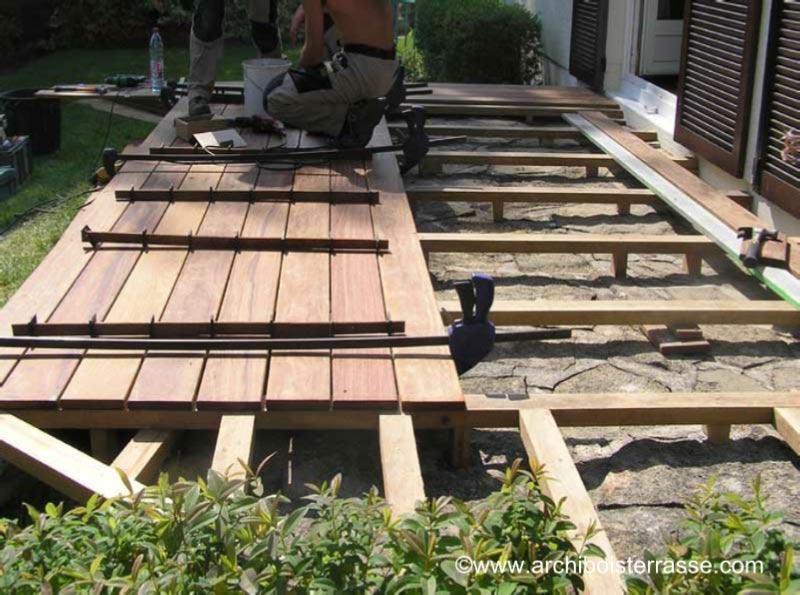 ment faire une terrasse bois classique au sol photos