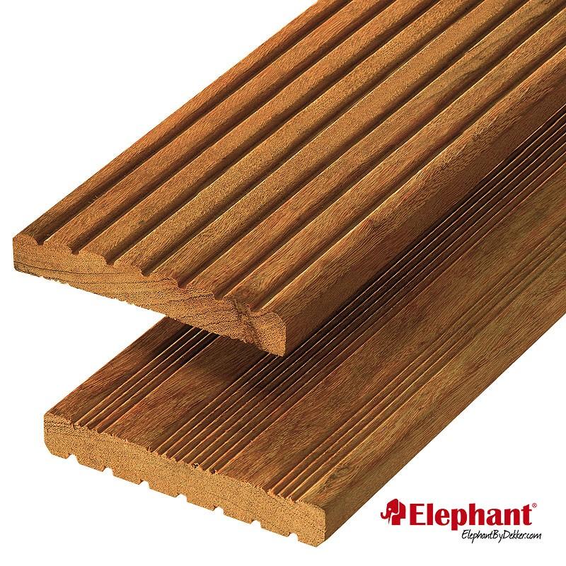 Lame de terrasse en bois exotique garapa 215 x 14 5 x 1 9 cm