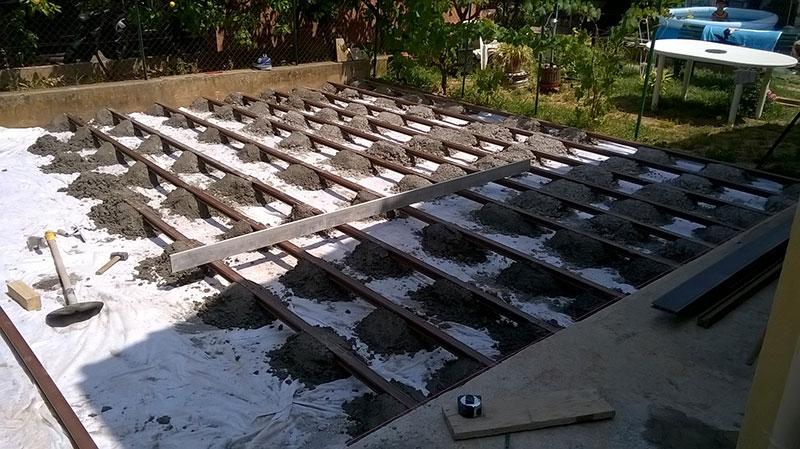 Construction Terrasse en lames de posite