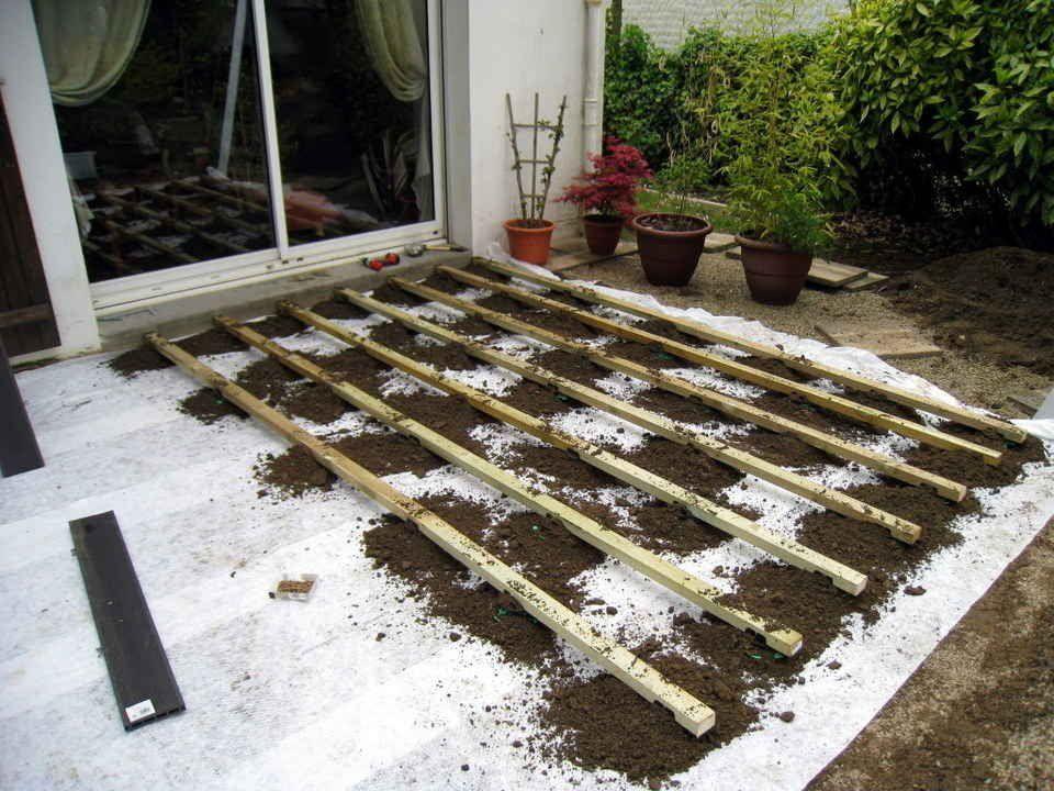 Lame De Bois Terrasse Tutoriel Expliquant Ment Poser Une Terrasse En Bois