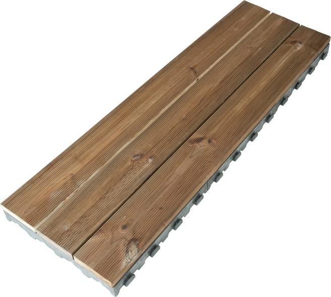 Dalle terrasse clipsable Pin 118 x 39 cm marron