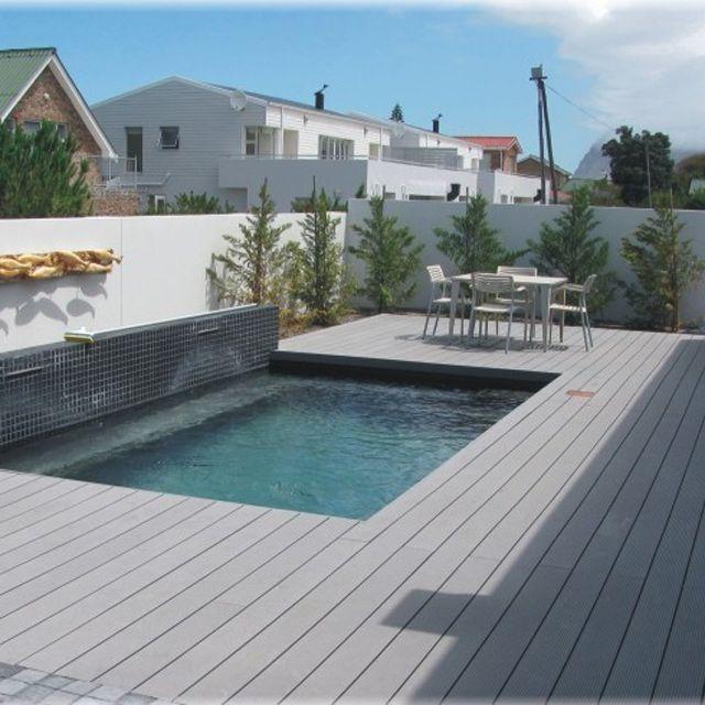 Lame de terrasse posite R gris L 260 x l 14 6 cm en