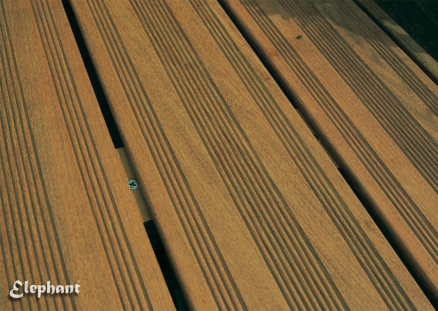 Lame de Terrasse en Bois Exotique Ipé 215 x 12 x 2 1 cm