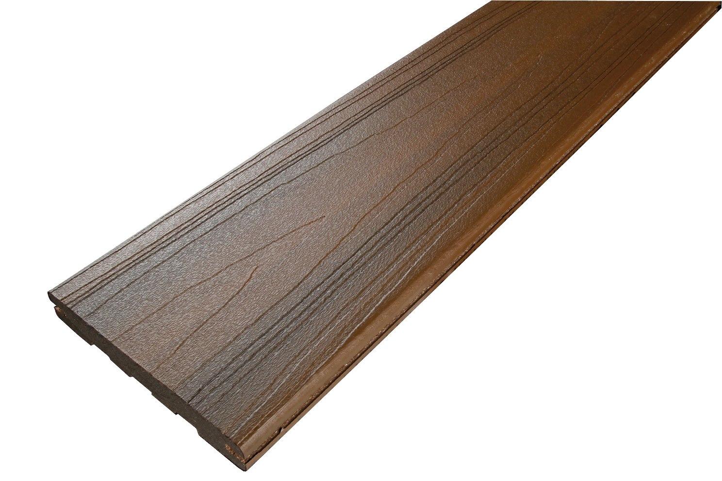 Lame de terrasse en bois posite brun à clipper Fiberon