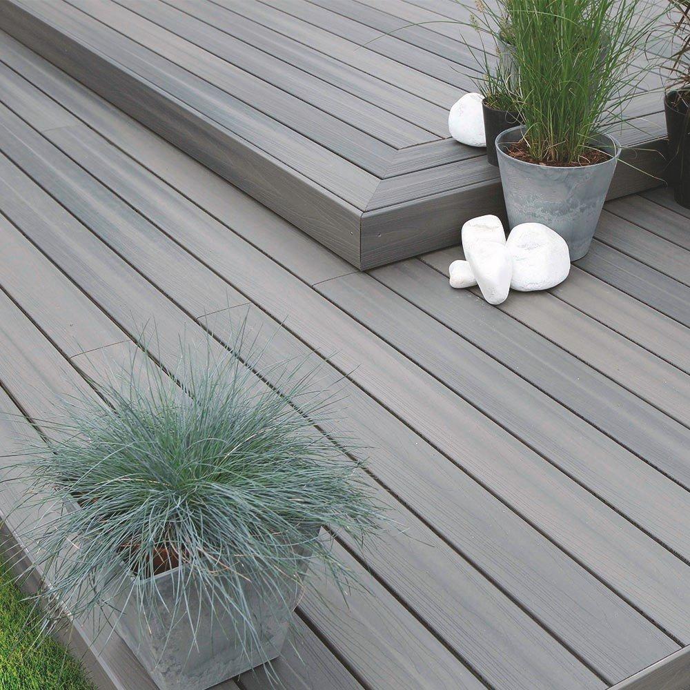 Lame de terrasse posite gris aspen Fiberon Extrem