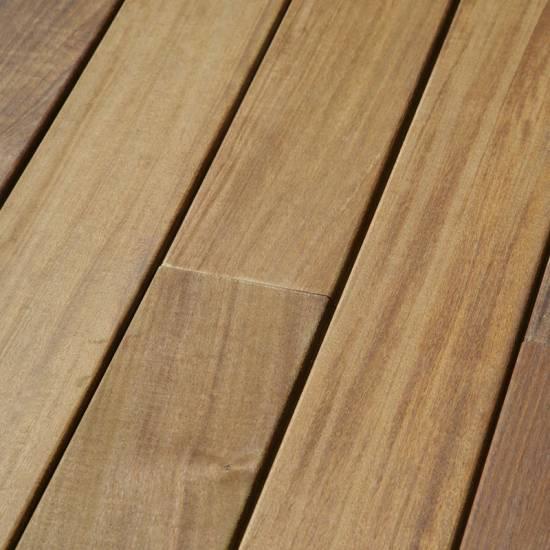 Lame de terrasse lisse en bois exotique Ipé