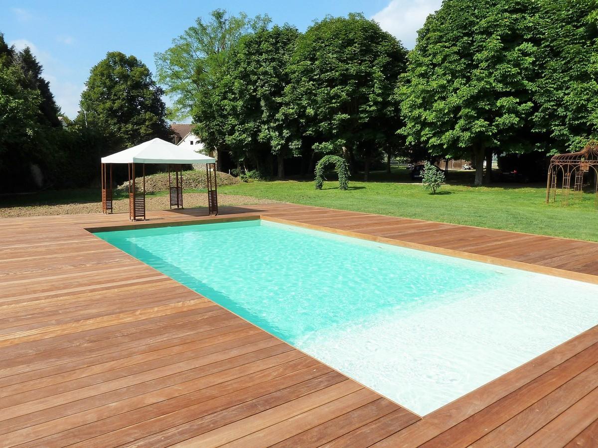 terrasse en bois piscine 78 les Yvelines France terrasse